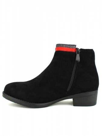 Bottines Noires LOV'IT bande rouge, image 03