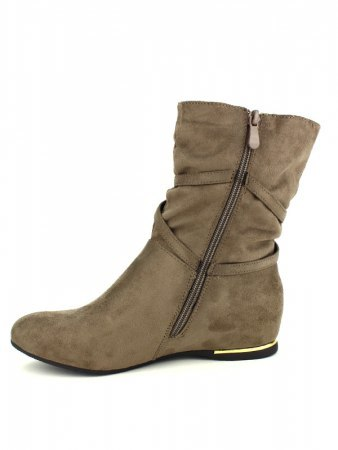 Bottines color Taupe QUEEN VIVI, image 03