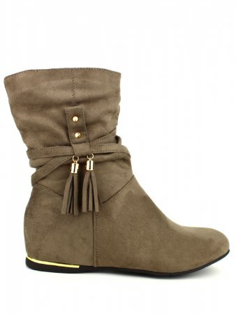 Bottines color Taupe QUEEN VIVI