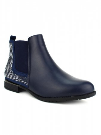 Bottine bleue ML SHOES Strass, image 02