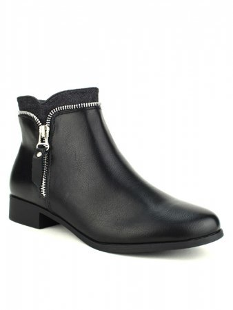 Bottine noire Zip CINKS ME, image 02