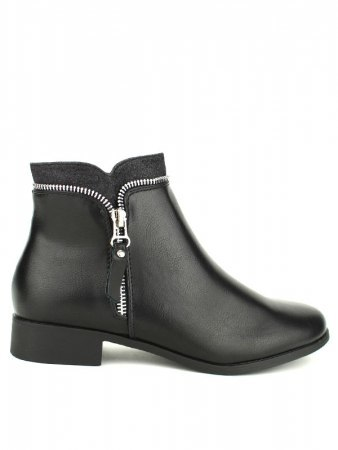 Bottine noire Zip CINKS ME