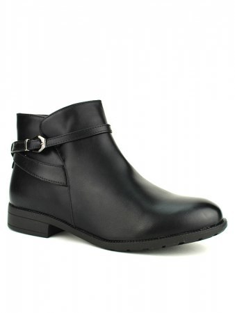 Bottines Noires ML SHOES grandes pointures, image 02