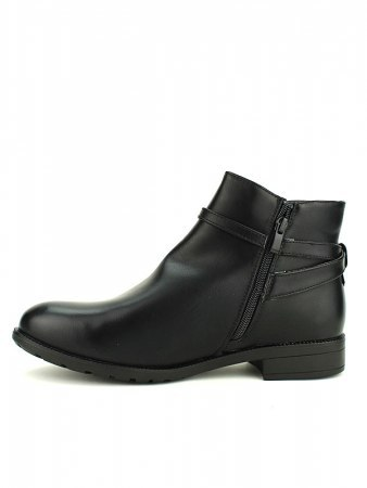 Bottines Noires ML SHOES grandes pointures, image 03