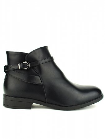 Bottines Noires ML SHOES grandes pointures