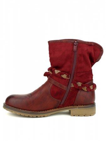 Bottine simili cuir Bordeaux SIXTH SENS, image 02