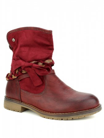 Bottine simili cuir Bordeaux SIXTH SENS, image 03
