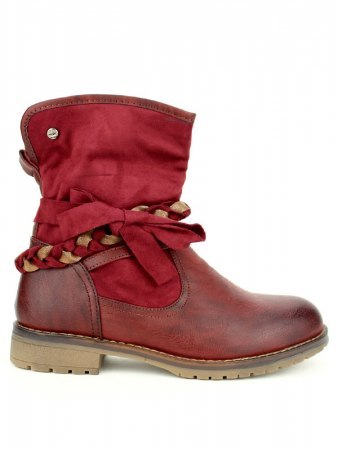 Bottine simili cuir Bordeaux SIXTH SENS
