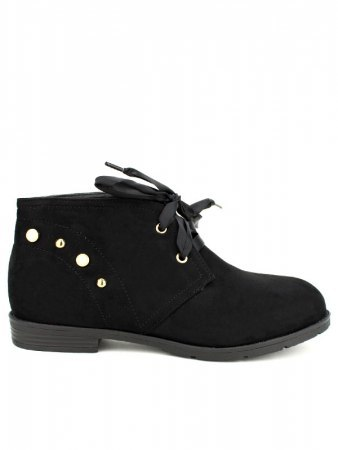 Bottine Noire DERBIES Perles