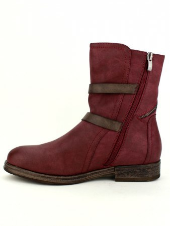 Bottines Color bordeaux WEIDES LOOK, image 02