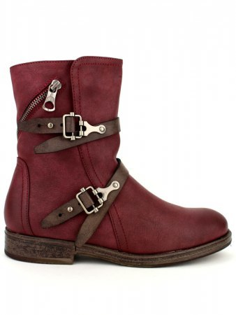 Bottines Color bordeaux WEIDES LOOK