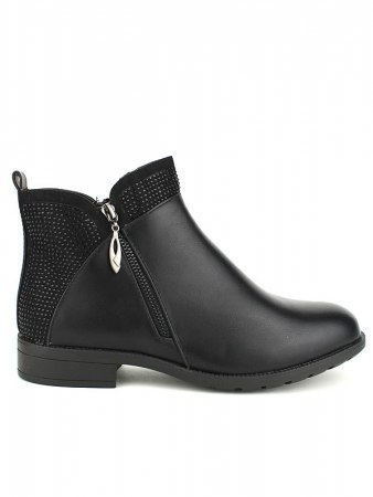 Bottine Noire Grandes Pointures M&L