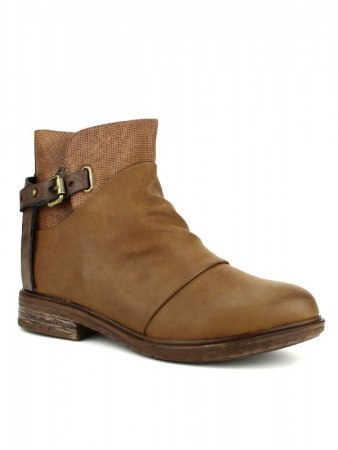 Bottines Caramel simili cuir WEIDE, image 02