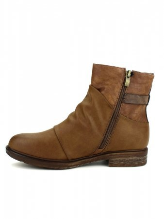 Bottines Caramel simili cuir WEIDE, image 03