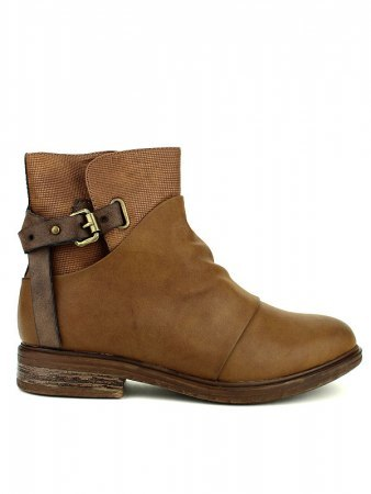 Bottines Caramel simili cuir WEIDE