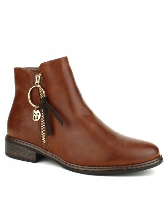 Bottines Marron Simili WEDE, image 02
