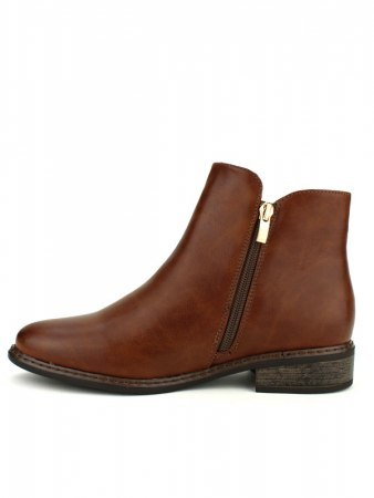 Bottines Marron Simili WEDE, image 03