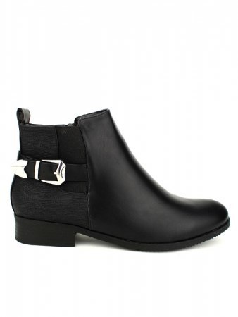 Bottines Noires simili boucles CINKS