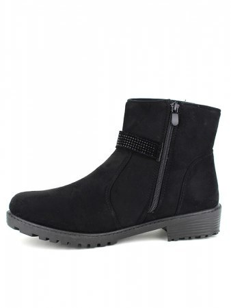 Bottines Noires daim CINKS BE, image 02