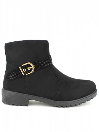 Bottines Noires daim CINKS BE