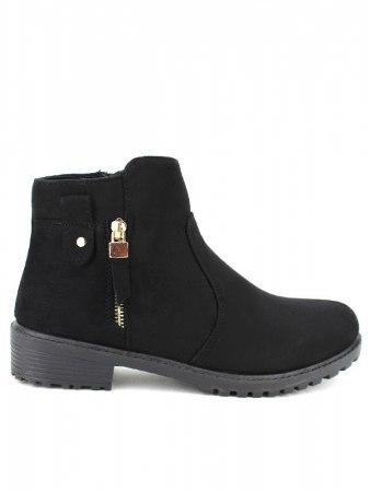 Bottines Noires daim LIANO