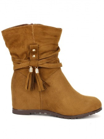 Bottine simili cuir Camel SIALIS