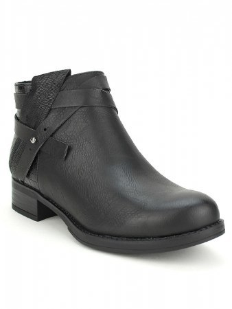 Bottines black Simili Cuir PEPERS, image 02