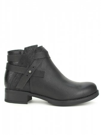 Bottines black Simili Cuir PEPERS