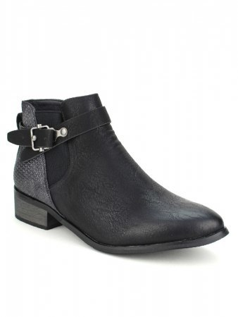 Bottines Noires SPERCES MODA, image 02