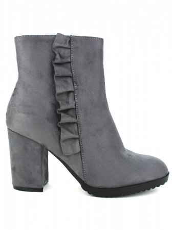 Bottines Grises Simili GIRLWOOD