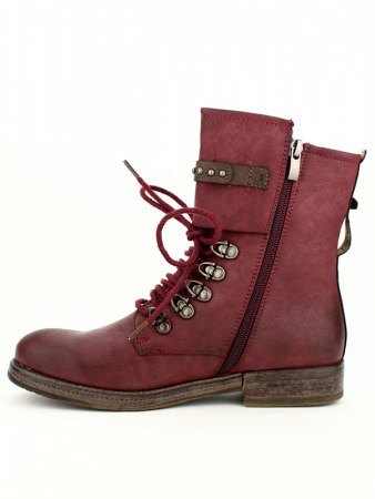 Bottine Bordeaux Simili cuir TERIS , image 02