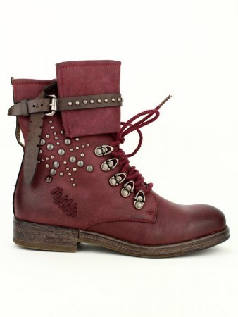 Bottine Bordeaux Simili cuir TERIS