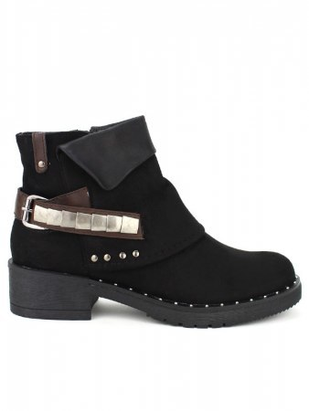 Bottines Noires CERNYS Simili peau