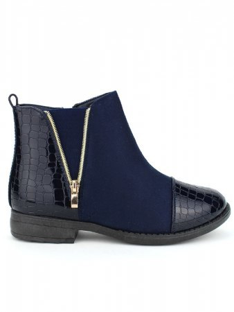 Bottines Blues Bi matières CINKS