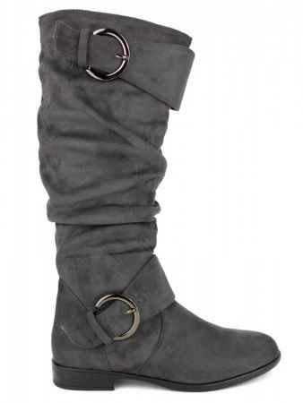 Botte velours Gris BELLO STAR