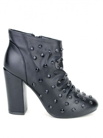 Bottine Noire ROCKANA Clous