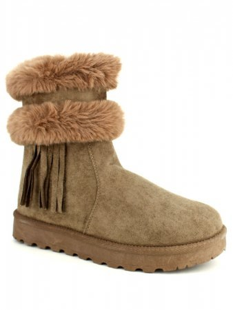 Boots Taupe Fausse Fourrure SNOWDEN, image 02