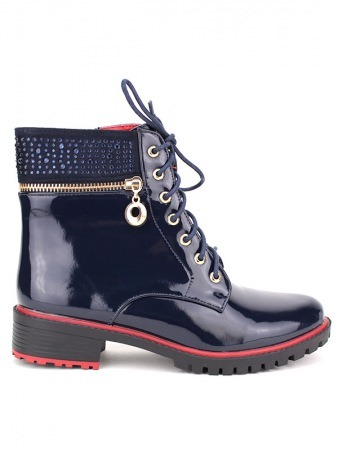 Bottine DOCKERS LOOK blue verni