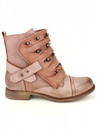 Bottines Rose simili cuir SENSTH