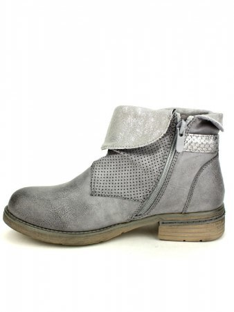 Bottines Grises simili cuir SENSTH, image 03