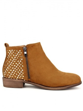 Bottine cuir Caramel OLLS