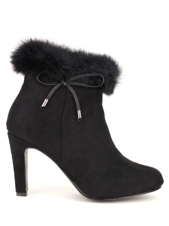 Lows Boots Black SABRINA Fourrure