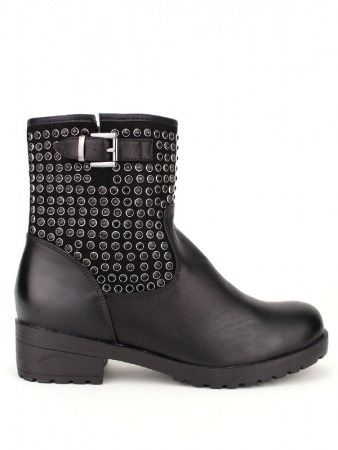 Bottine ROCK Black Strass