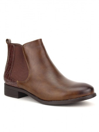 Bottine marron simili cuir STANK, image 02