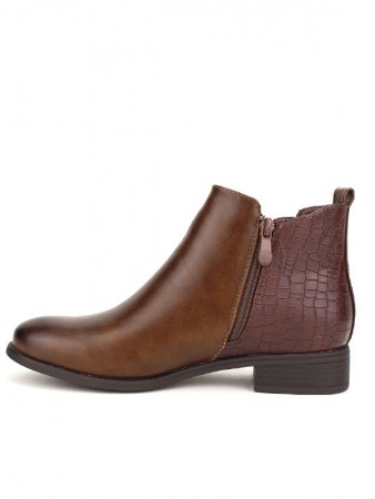Bottine marron simili cuir STANK, image 03