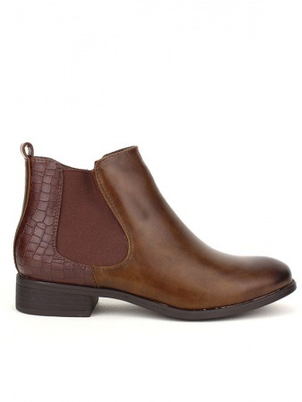 Bottine marron simili cuir STANK