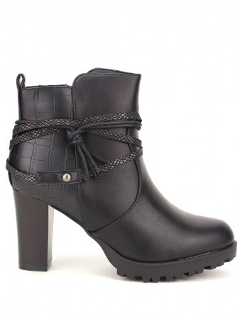 Bottines Noires SANTINE Mode