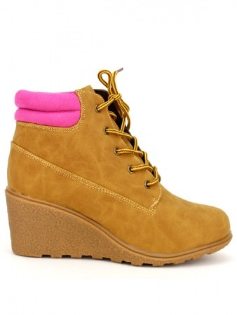 Bottine CAMPERS Fushia Camel