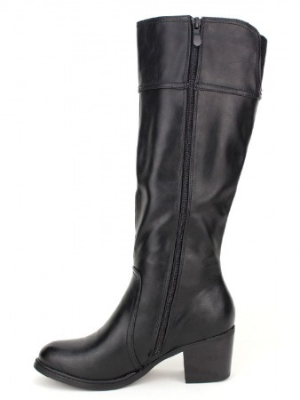 Botte noire Simili cuir QUEEN'S, image 03