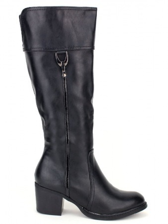 Botte noire Simili cuir QUEEN'S